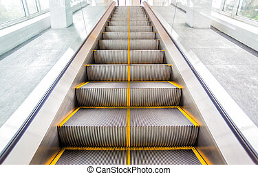 elevator with yellow line