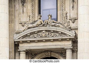 Brussels Stock Exchange, Belgium. - The Bourse de Bruxelles...