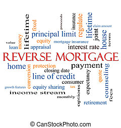Reverse Mortgage Word Cloud Concept with great terms such as...
