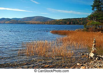 Acadia National Park in Maine - Lake in Acadia National Park...