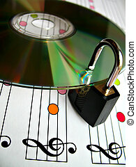 music piracy - Concept image about music piracy and...