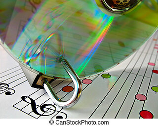 Music piracy protection - Concept image about music piracy...