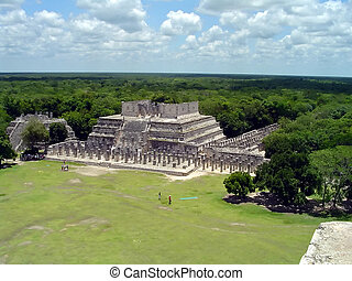 chichen itza ruins - Ruins of the maya city chichen itza,...