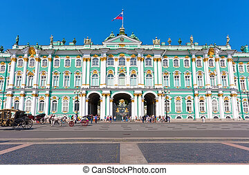 Hermitage in Saint Petersburg - Hermitage Museum - Winter...