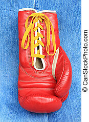 Boxing glove - Close-up of red boxing glove