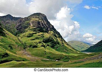 Highlands - Gencoe mountains and lake landscape