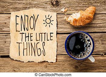 tôt, petit déjeuner, inspirationnel, matin