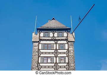 Schelztor Gate Tower in Esslingen am Neckar, Germany -...