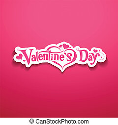 Happy Valentine Day message design