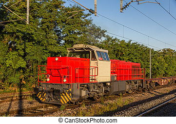 French shunter at Strasbourg-Krimmeri station