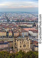 View of Lyon from Fourviere hill - France