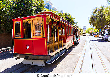 San francisco Hyde Street Cable Car California - San...