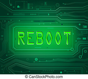 Reboot concept - Abstract style illustration depicting...
