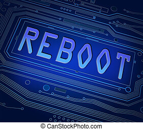 Reboot concept. - Abstract style illustration depicting...
