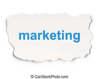 Advertising concept: Marketing on Paper background -...
