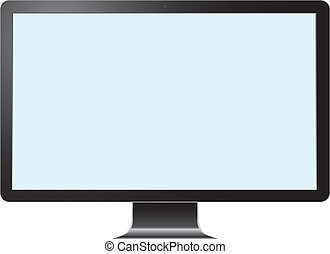 Computer Desktop Monitor, Display vector illustration.