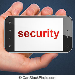 Privacy concept: Security on smartphone