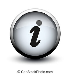 button info 2d on white background