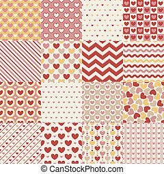seamless heart retro pattern