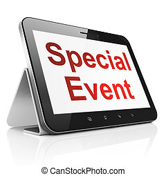 Business concept: Special Event on tablet pc computer -...