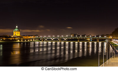 Night view of Toulouse - Midi-Pyrenees, France