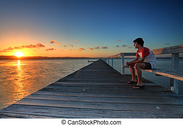 Dejar, Tensiones, Mirar, días, ocaso, ir