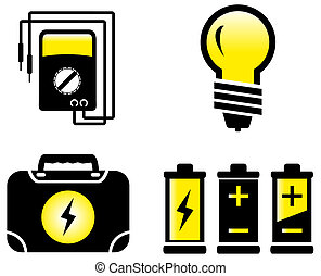 glossy electrical objects