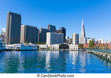 San, Francisco, céntrico, muelle, 7, California