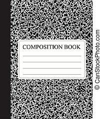 Black Composition Book - Traditional workbook for study and...