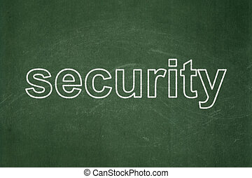 Privacy concept: Security on chalkboard background