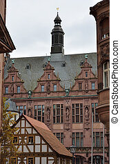Historic Frankfurt - Historic building in the old town of...