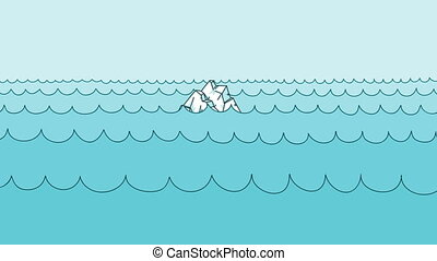 Cartoon Iceberg - A cartoon iceberg with a cross-section...