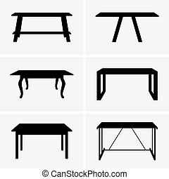 Tables - Set of six tables