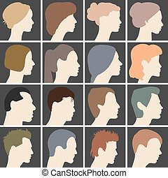 Profiles of faces