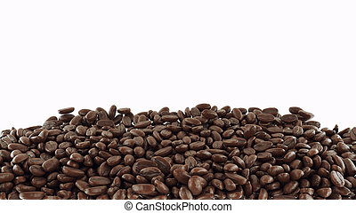 Roasted Coffee beans  isolated over white