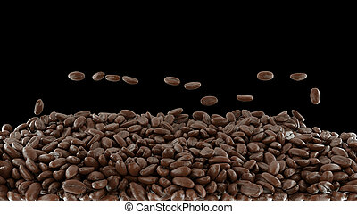 Coffee crop roasting and mixing isolated