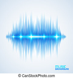 Modern equalizer - Modern glowing equalizer. Background for...