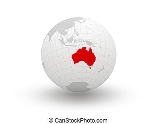 Globe 3d Australia Elements of this image furnished by NASA...