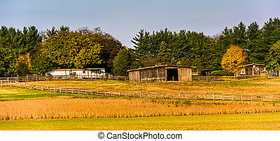 Farm in rural Frederick County, Maryland. - Farm in rural...