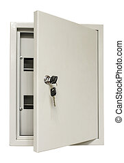 Electrical control box - Distribution metal box with door...
