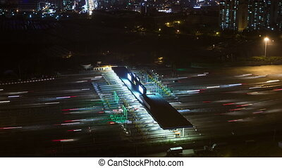 Seoul City Tollbooth Traffic - 232) Time lapse of traffic...