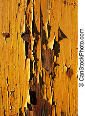 Close-up picture of an old wooden h - A close-up picture of...