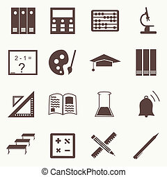 Vector seamless pattern with education icons - abstract...