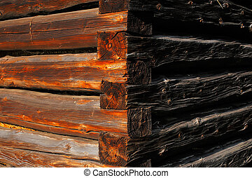 Natural details of sun dried wood
