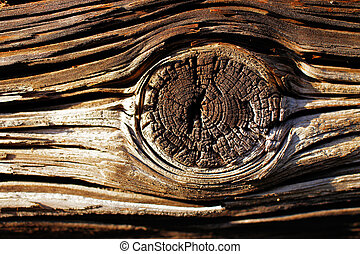 Natural details of sun dried wood of a 100 years old barn