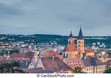 Esslingen am Neckar views from the Castle, Germany -...