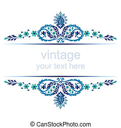 ornate vintage frames six - blue series is designed using...