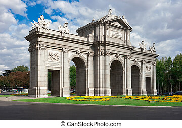 Puerta de Alcala - famous Spanish monument at Independence...
