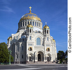 Naval Cathedral in Kronstadt Saint-petersburg - Naval...