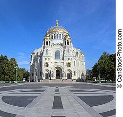 Naval Cathedral in Kronstadt Saint-petersburg - Naval...